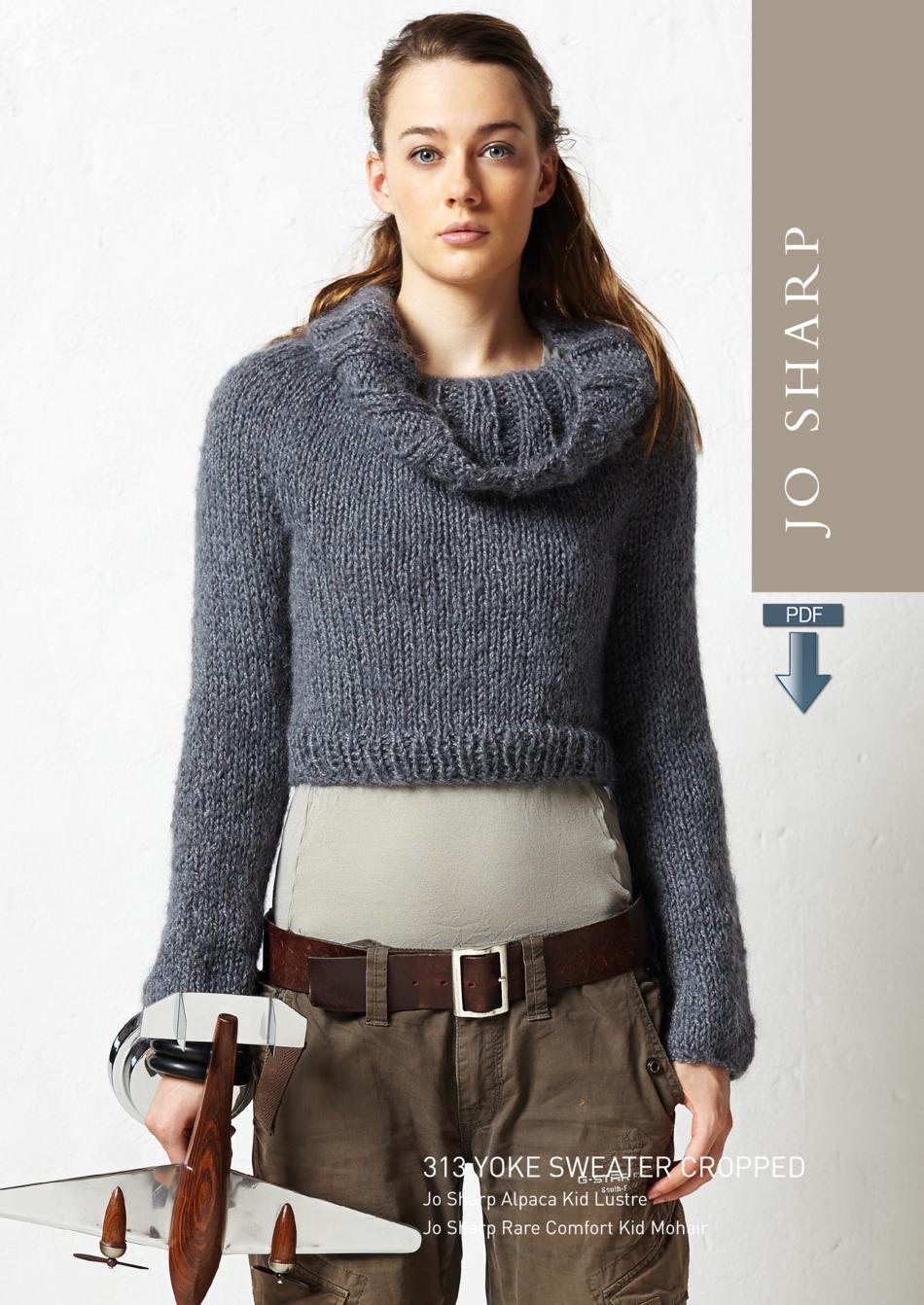 Jo Sharp Cropped Yoke Cowl Sweater Pattern Download Knitting