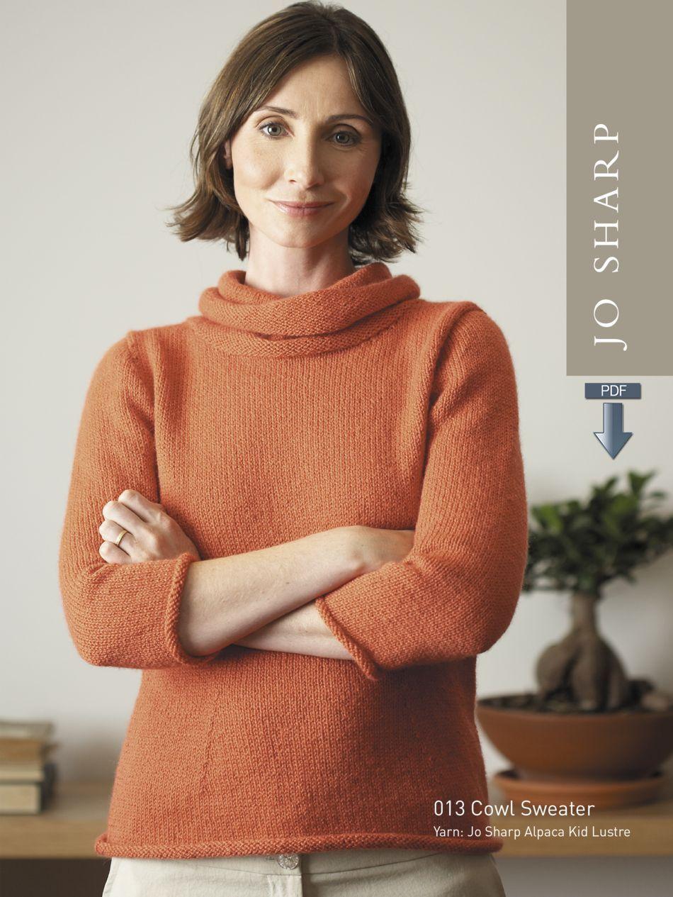 Jo Sharp Cowl Sweater And Keyhole Vest Pattern Download Knitting