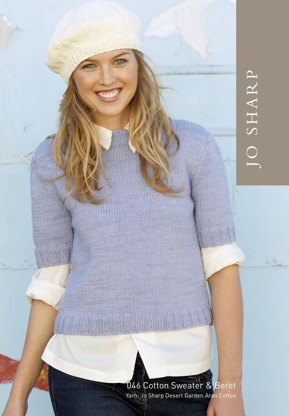 Jo sharp cotton sweater and beret pattern knitting pattern knitting patterns jo sharp cotton sweater and beret pattern bankloansurffo Choice Image