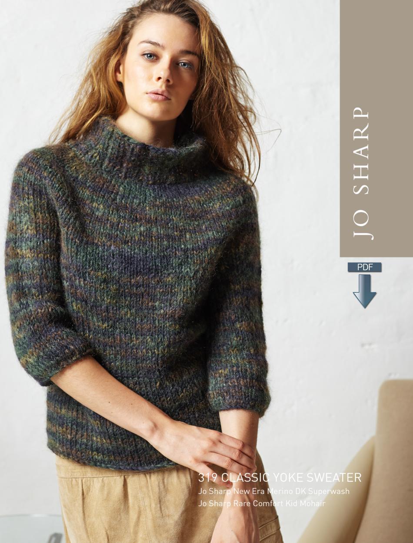Jo sharp classic yoke sweater pattern download knitting pattern jo sharp classic yoke sweater pattern download image a bankloansurffo Images