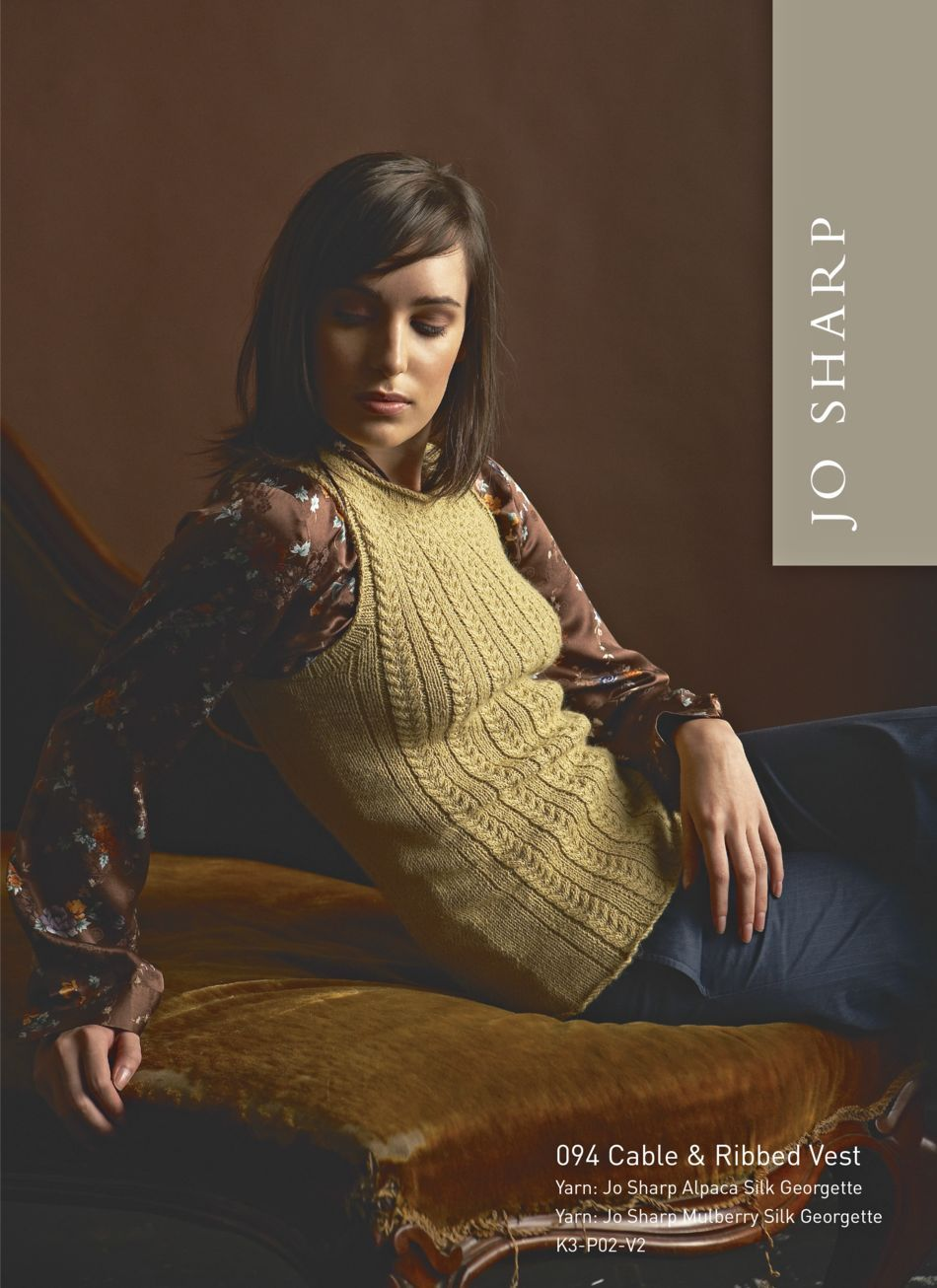 Knitting Patterns Jo Sharp Cable and Ribbed Vest  Pattern