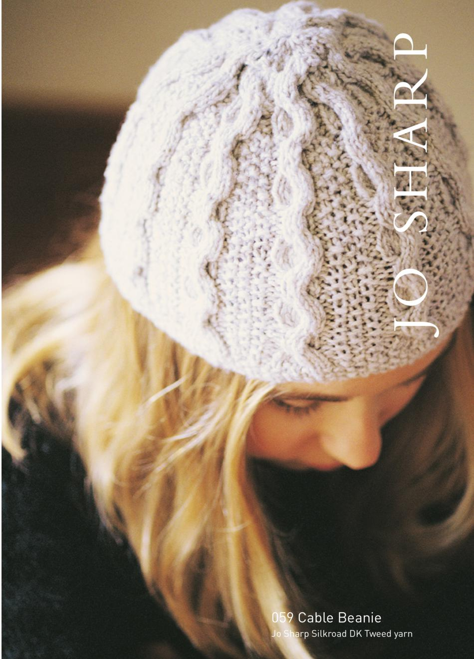 Knitting Patterns Jo Sharp Cable Beanie and Textured Scarf Pattern