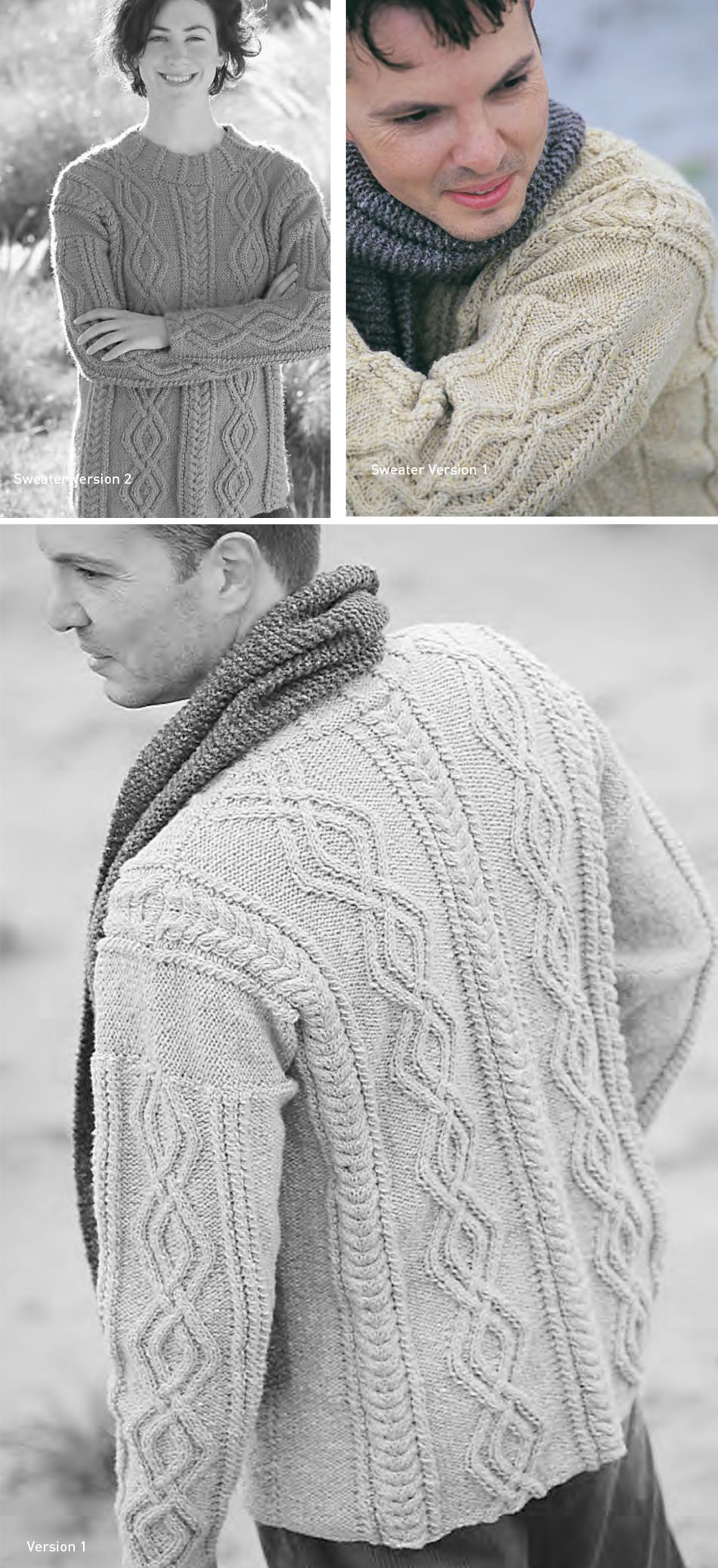 Jo Sharp Turtledove Cable Sweater Pattern, Knitting Pattern ...