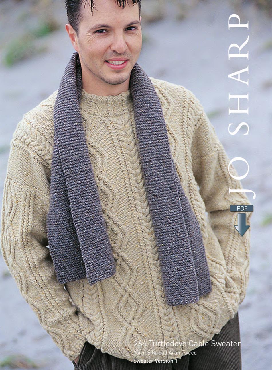 Jo Sharp Aran Cable Sweater - Pattern Download, Knitting ...