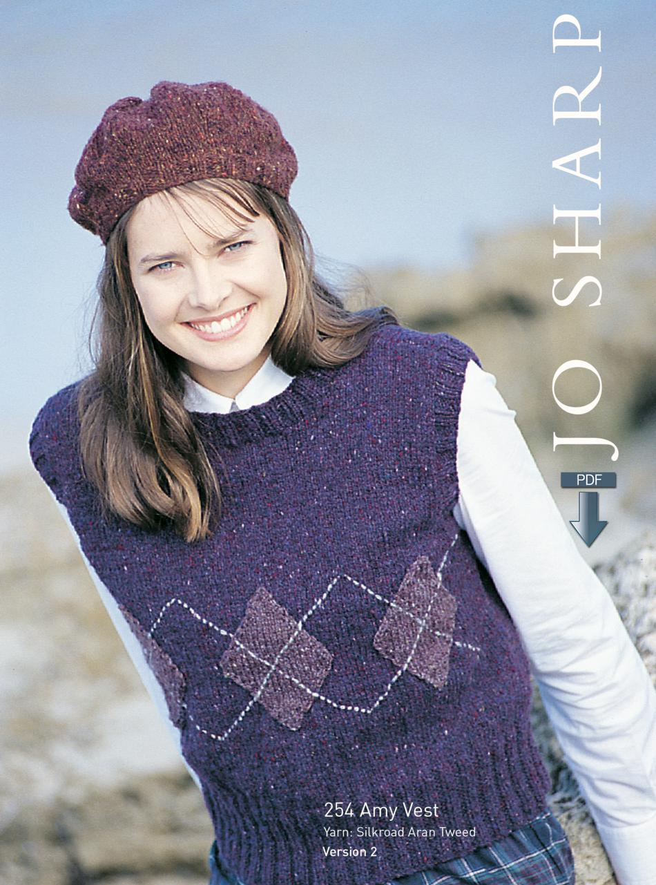 Knitting Patterns Jo Sharp Amy Rib Vest  Pattern Download
