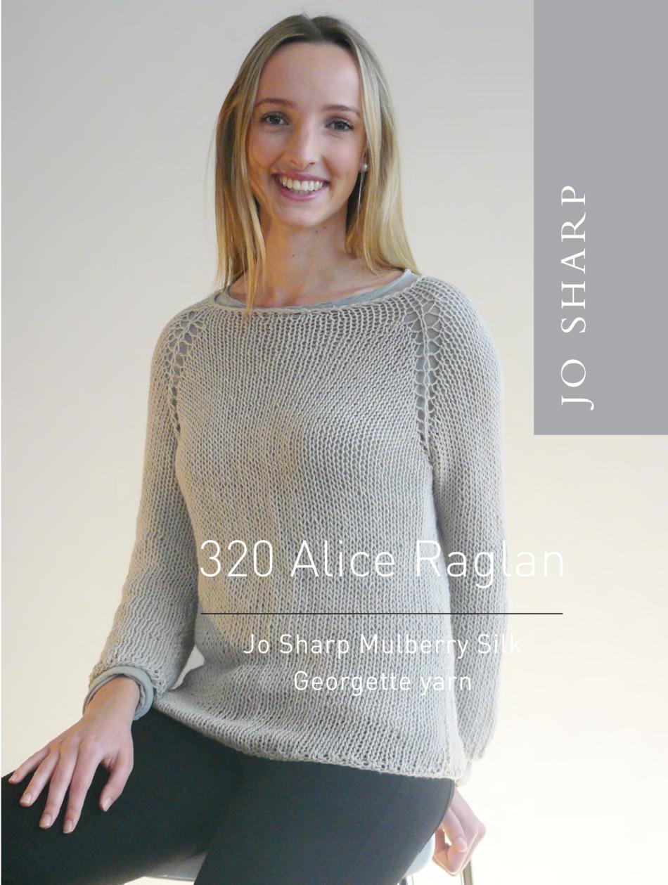 60391126de46b Jo Sharp Alice Raglan Sweater Pattern Knitting Pattern
