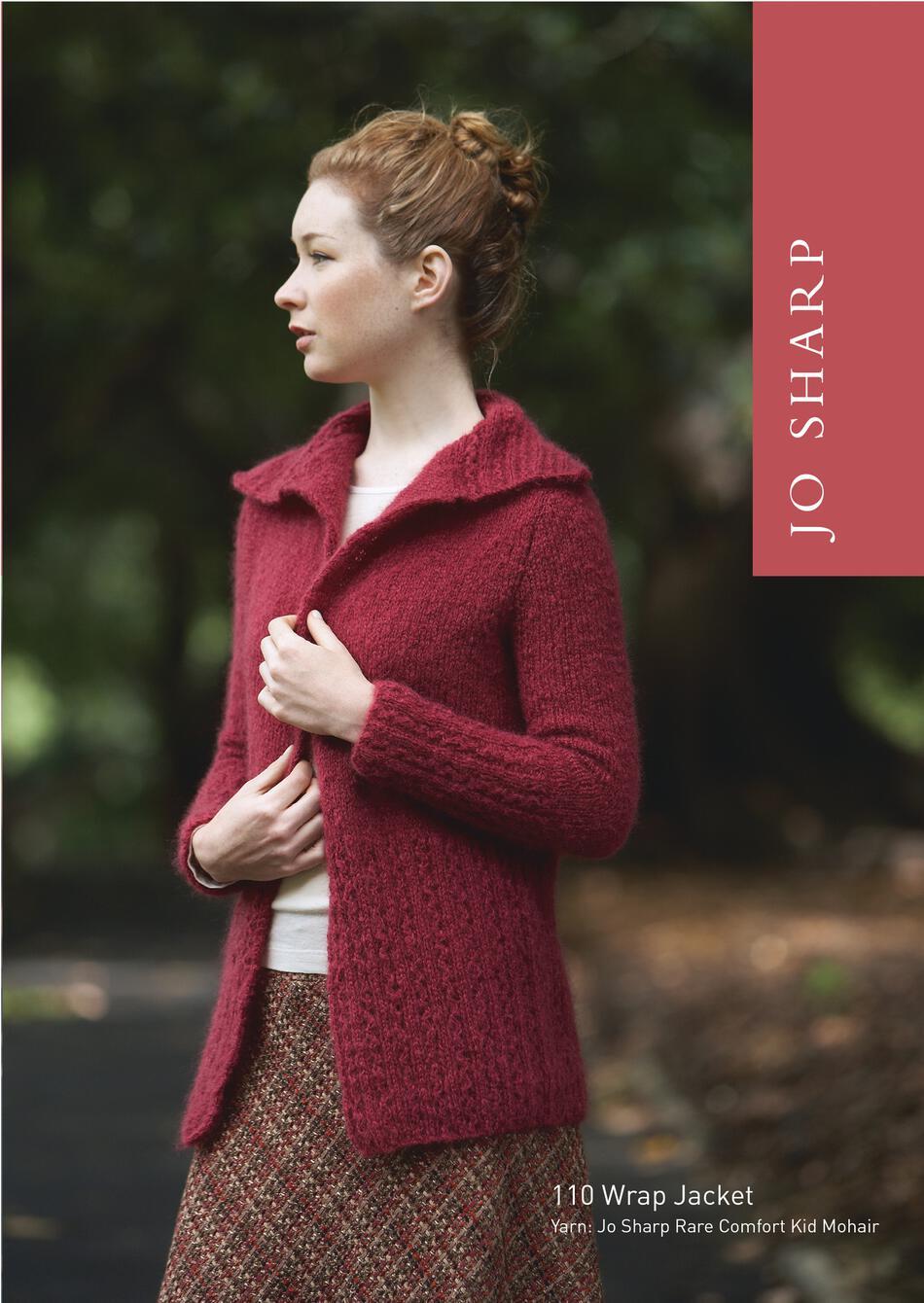 Jo Sharp Wrap Jacket - Pattern, Knitting Pattern - Halcyon Yarn