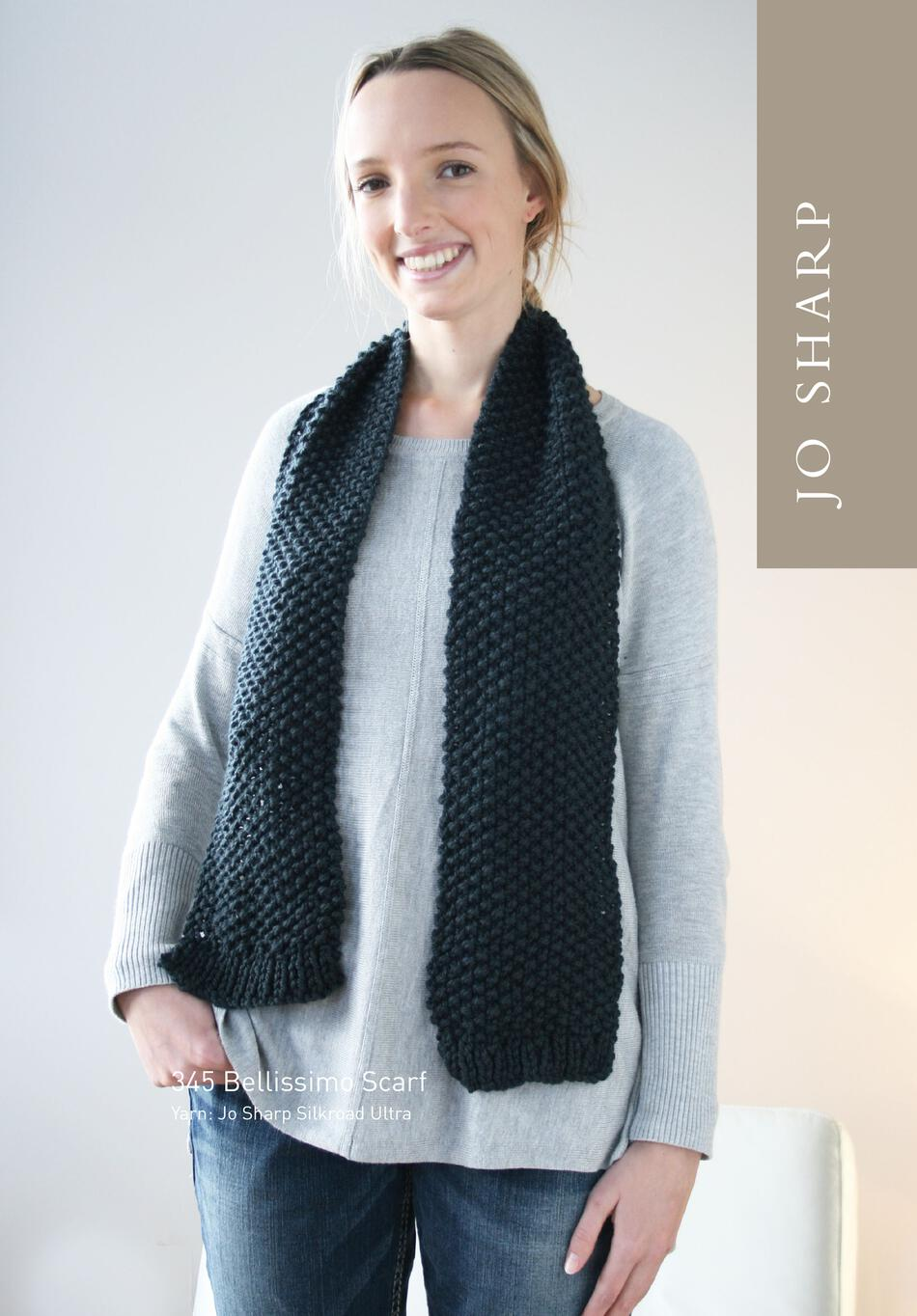 Knitting Patterns Jo Sharp Bellissimo Cowl and Scarf  Pattern