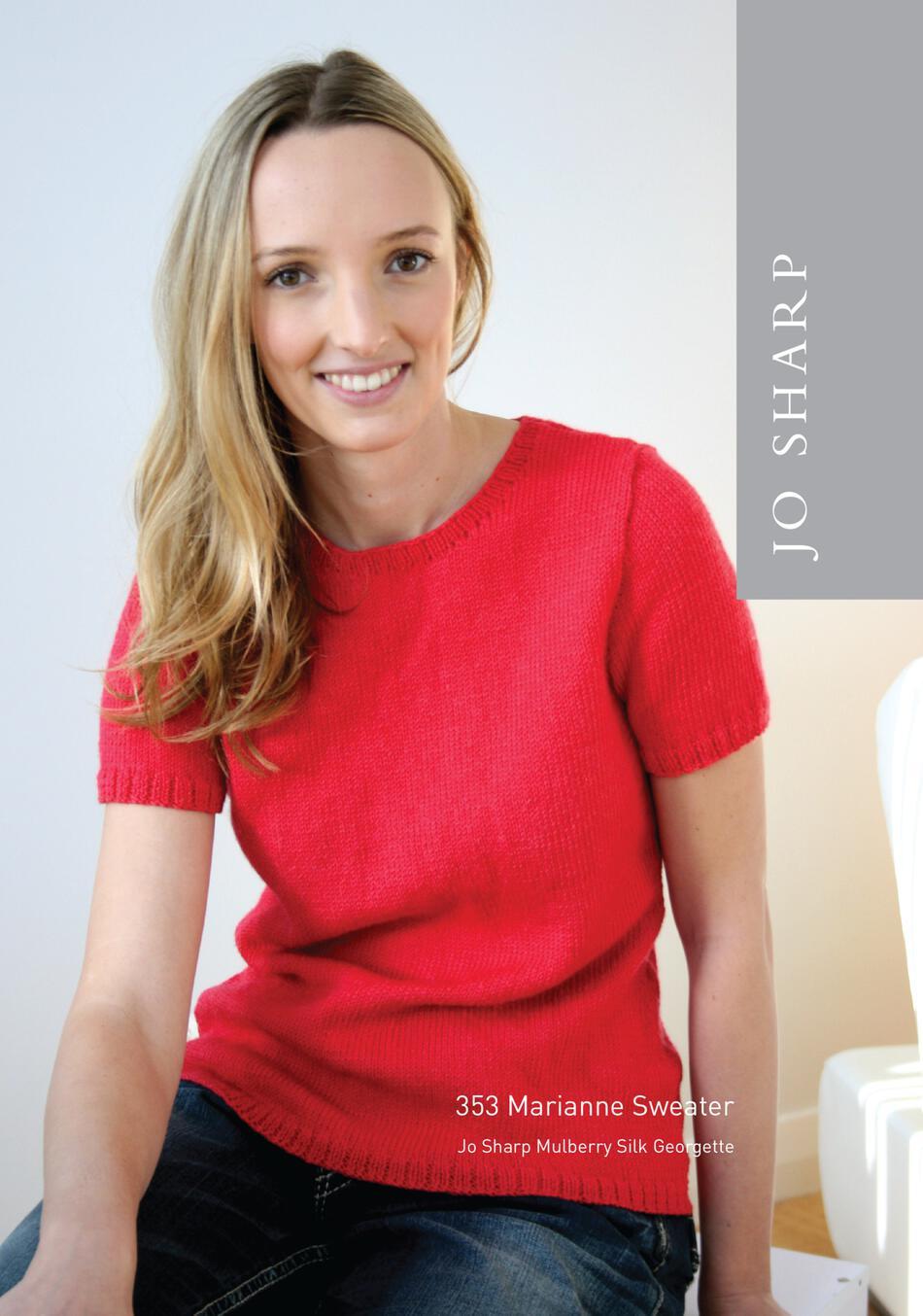 be585376f Jo Sharp Marianne Sweater - Pattern Download Knitting Pattern
