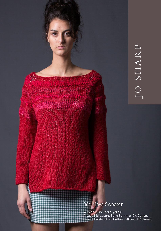 Jo Sharp Maya Sweater Pattern Download Knitting Pattern Halcyon