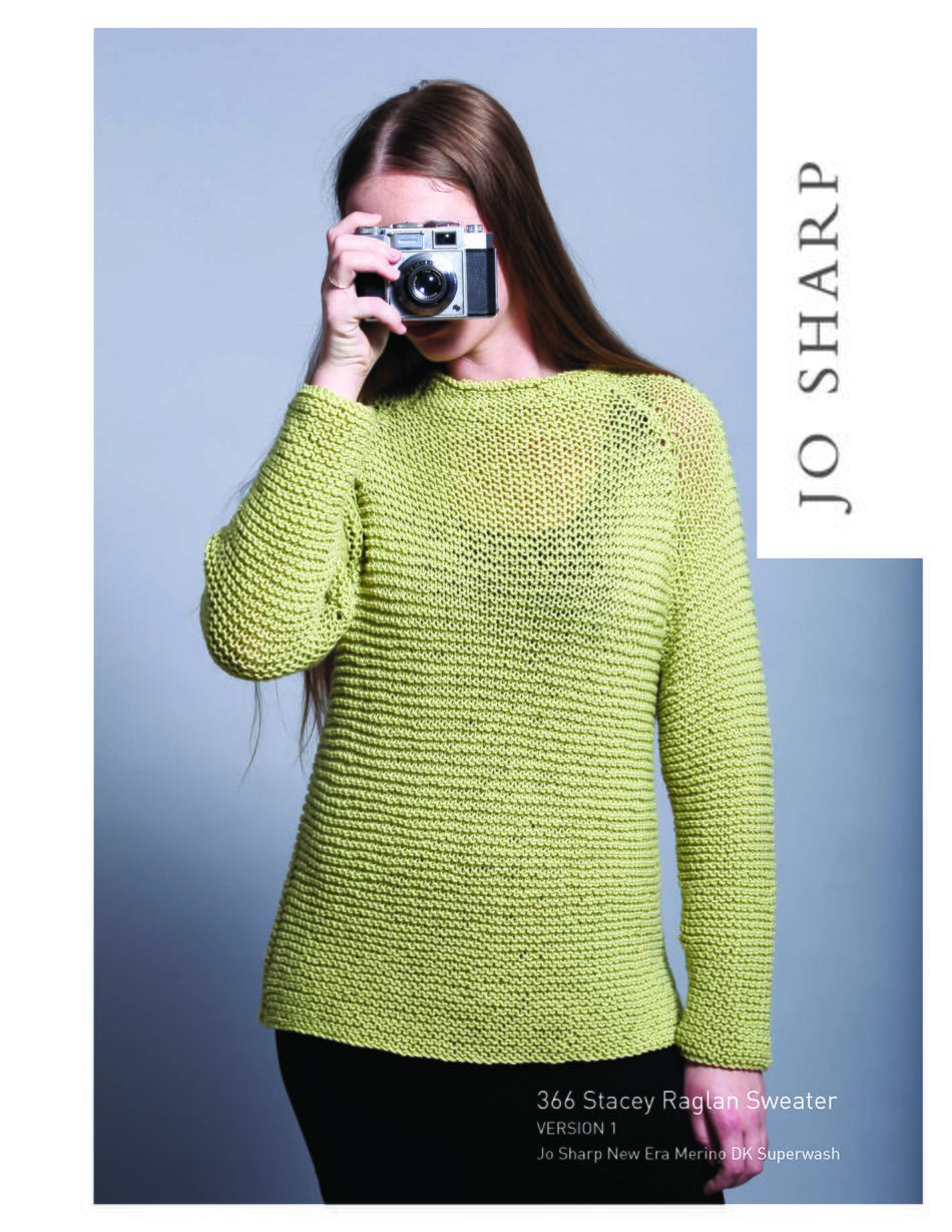 Raglan Pullover Knitting Pattern : Jo sharp stacey raglan sweater pattern knitting