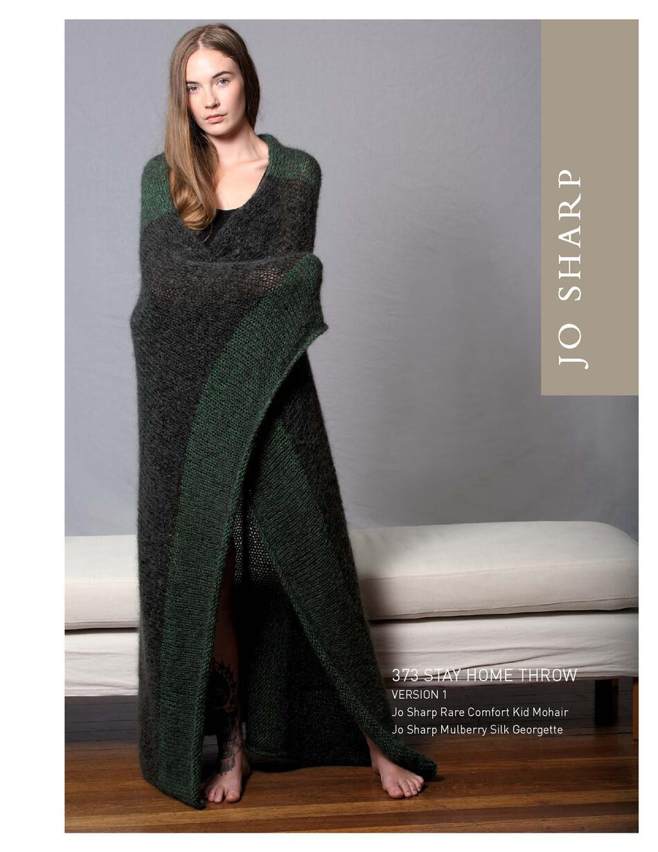Knitting Patterns Jo Sharp Stay Home Throw  Pattern
