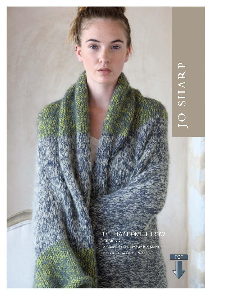 Knitting Patterns Jo Sharp Stay Home Throw  Pattern Download