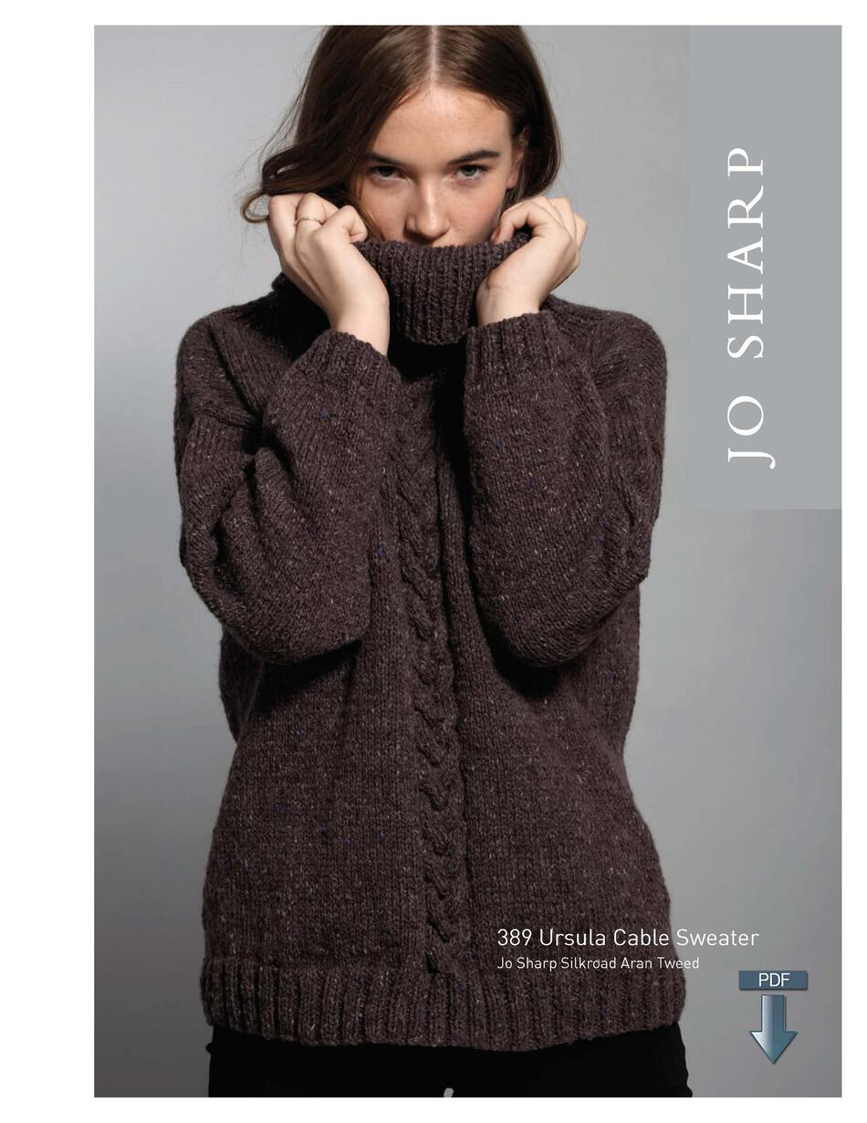 Jo Sharp Ursula Cable Sweater - Pattern Download, Knitting Pattern ...