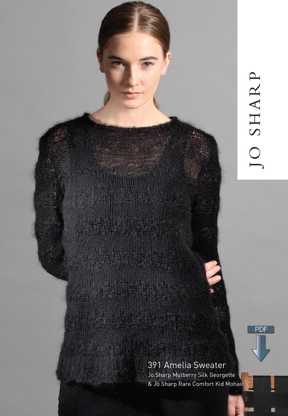 04eb07601 Jo Sharp Amelia Sweater - Pattern Download Knitting Pattern