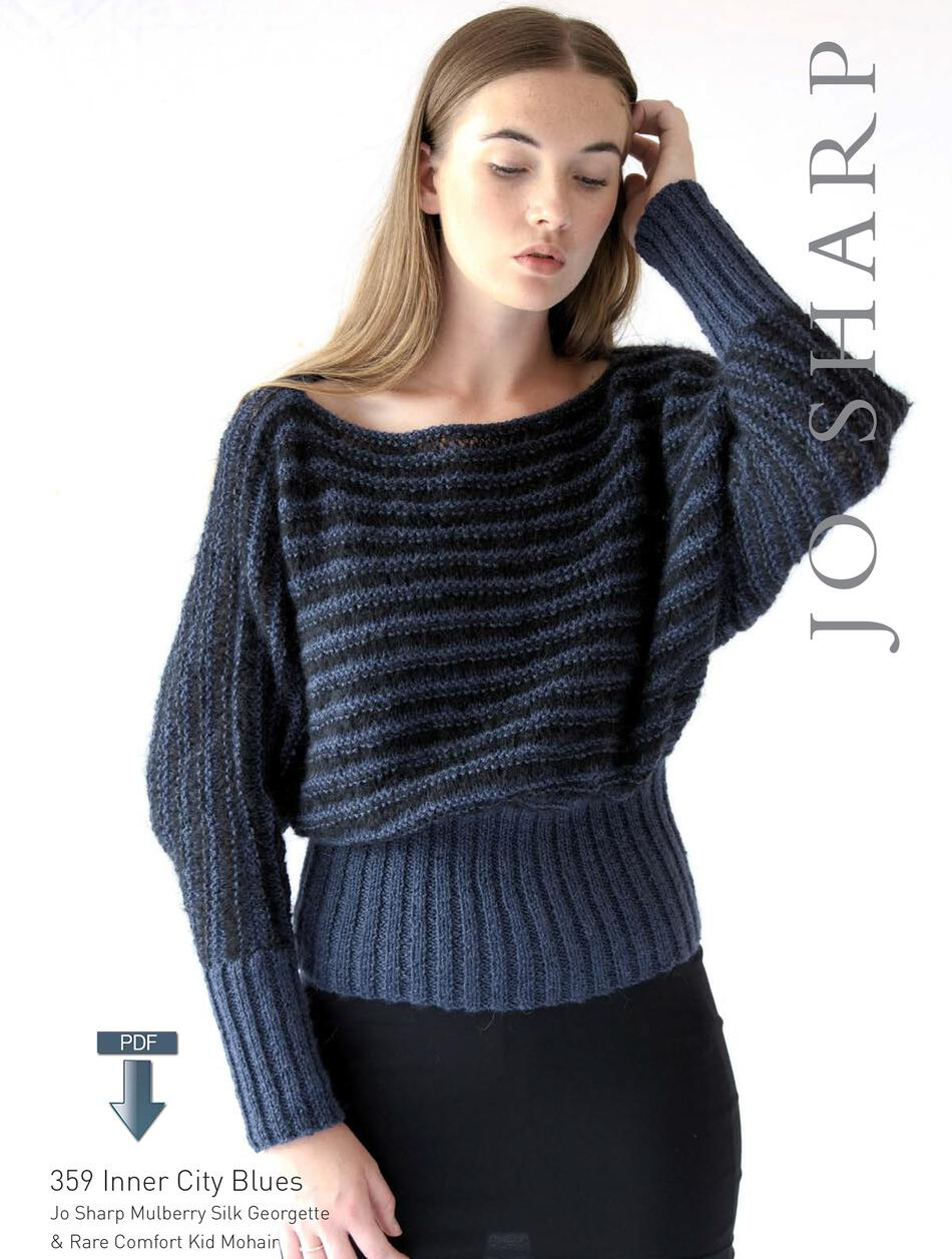 Knitting Patterns Jo Sharp Inner City Blues  Pattern Download