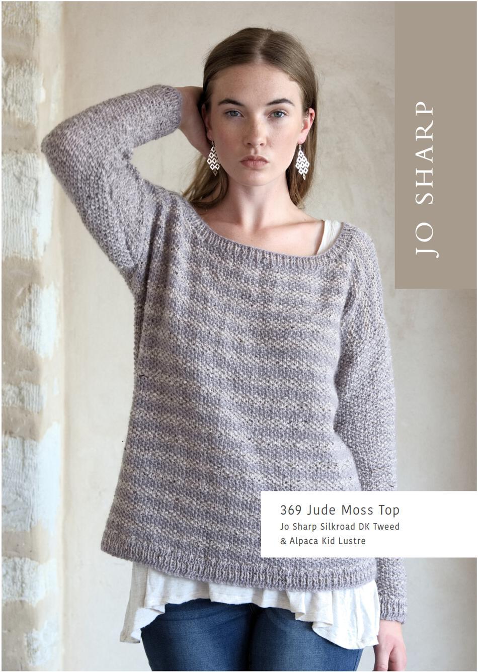 0620080fa Jo Sharp Jude Moss Top Sweater - Printed Pattern Knitting Pattern
