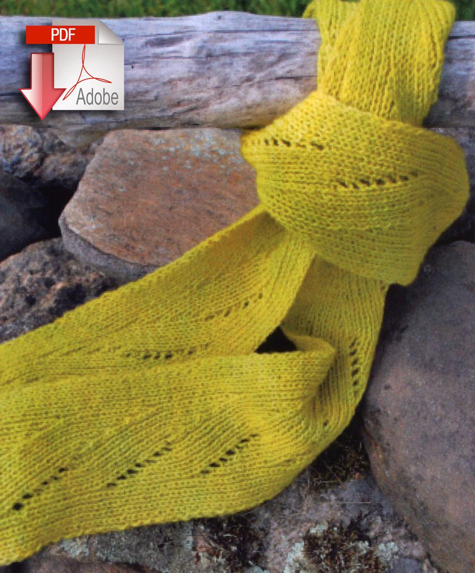 Knitting Pattern Spring Scarf : Swans Island Shot of Spring Scarf - Pattern Download, Knitting Pattern - Halc...