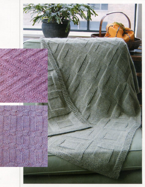 Reversible Afghan, Knitting Pattern - Halcyon Yarn