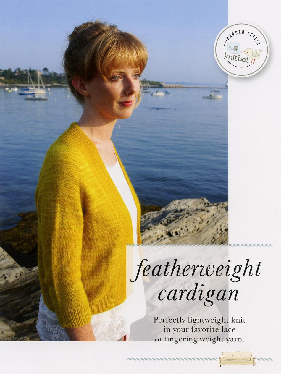 Knitting Patterns Knitbot Featherweight Cardigan