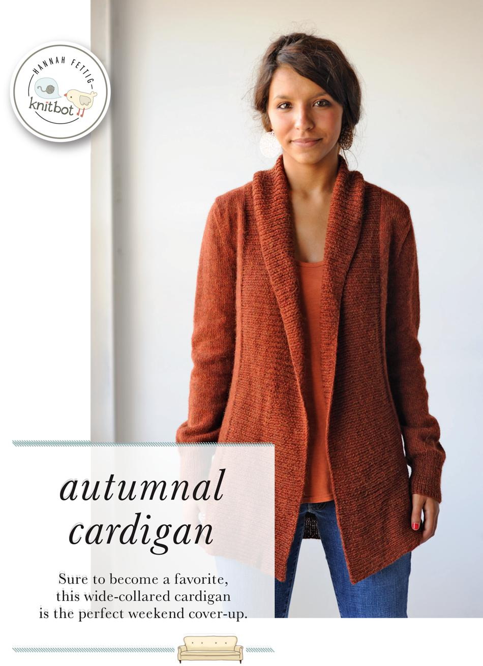 Knitbot Autumnal Cardigan, Knitting Pattern - Halcyon Yarn