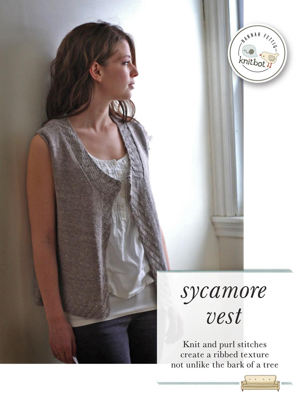 Knitting Patterns Knitbot Sycamore Vest