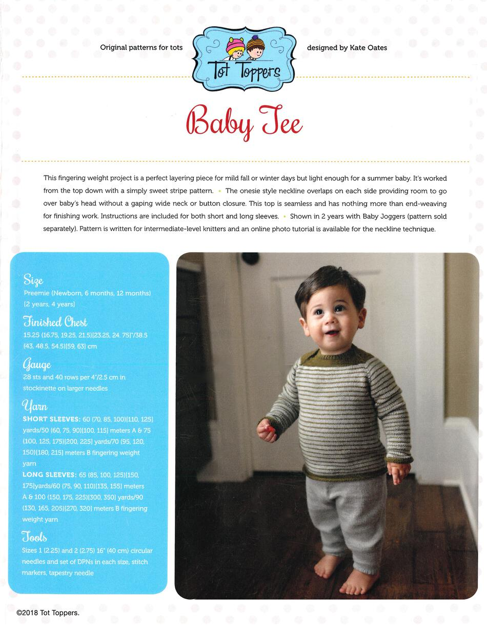 Knitting Patterns Tot Toppers Baby Tee  Pattern download