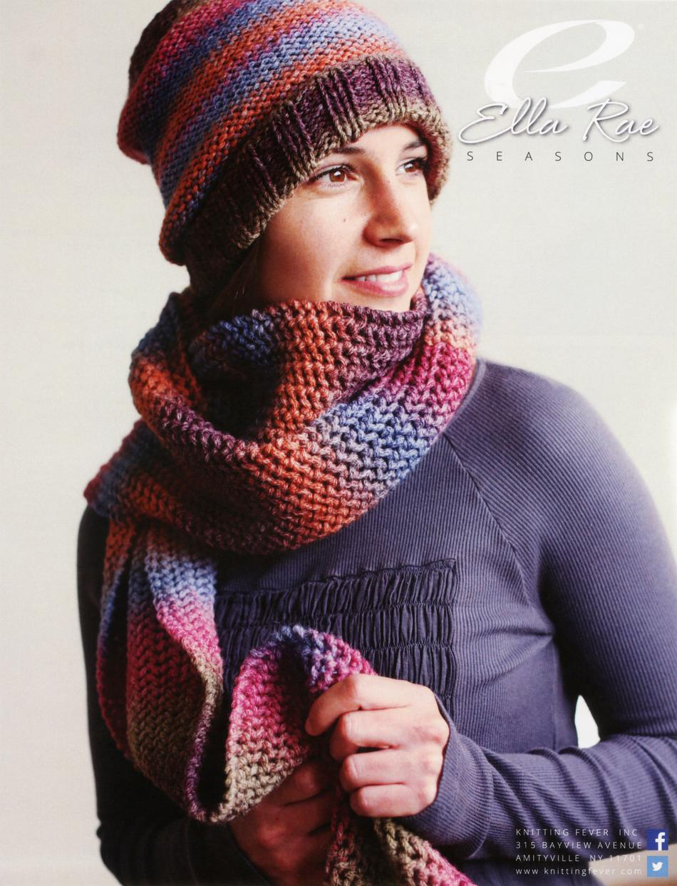 Knitting Patterns Beanie and Scarf  Ella Rae Seasons
