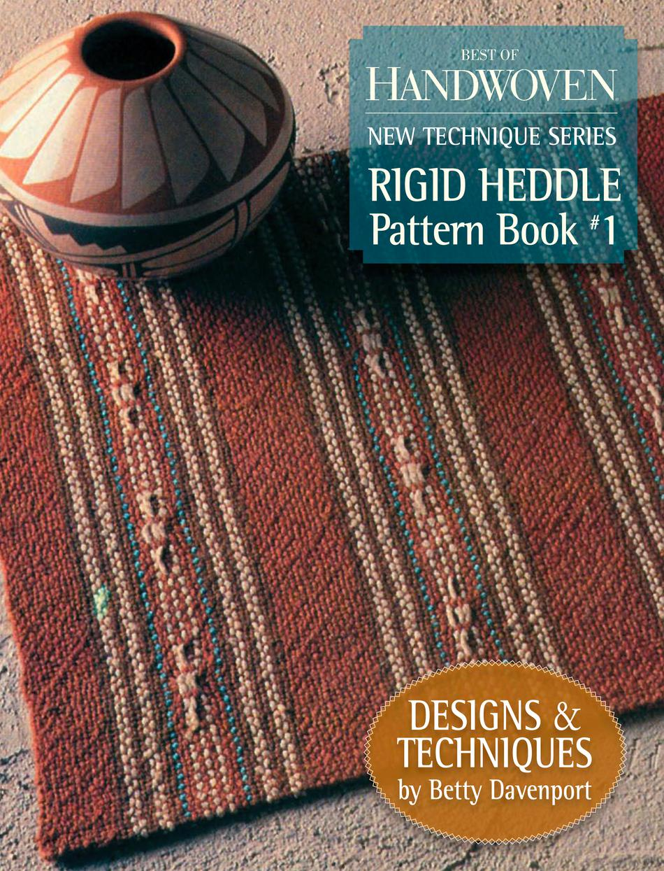 Weaving Books Best of Handwoven Rigid Heddle Pattern Book 1   New Technique Series  Handwoven eBook Printed Copy