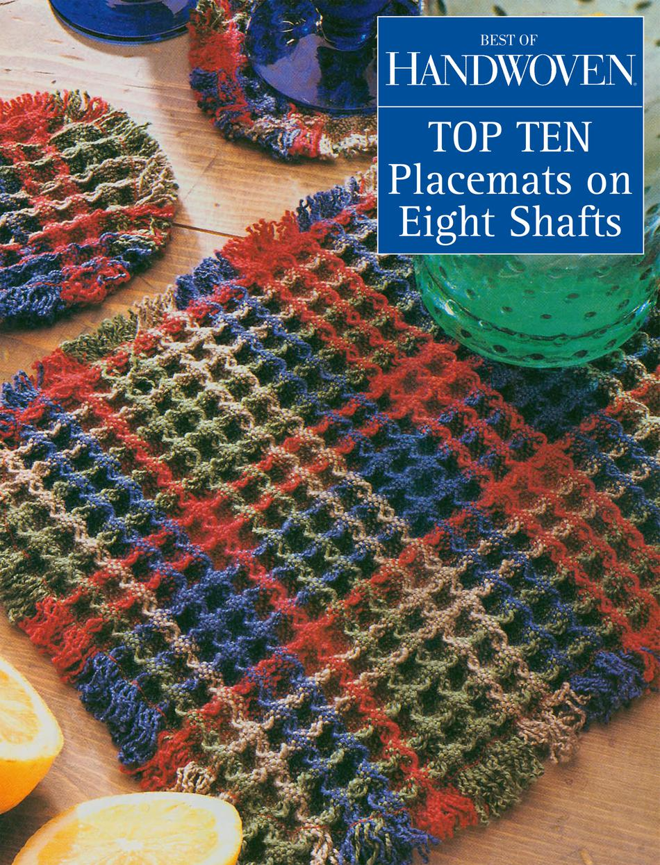 Weaving Books Best of Handwoven  Top Ten Placemats on Eight Shafts Handwoven eBook Printed Copy