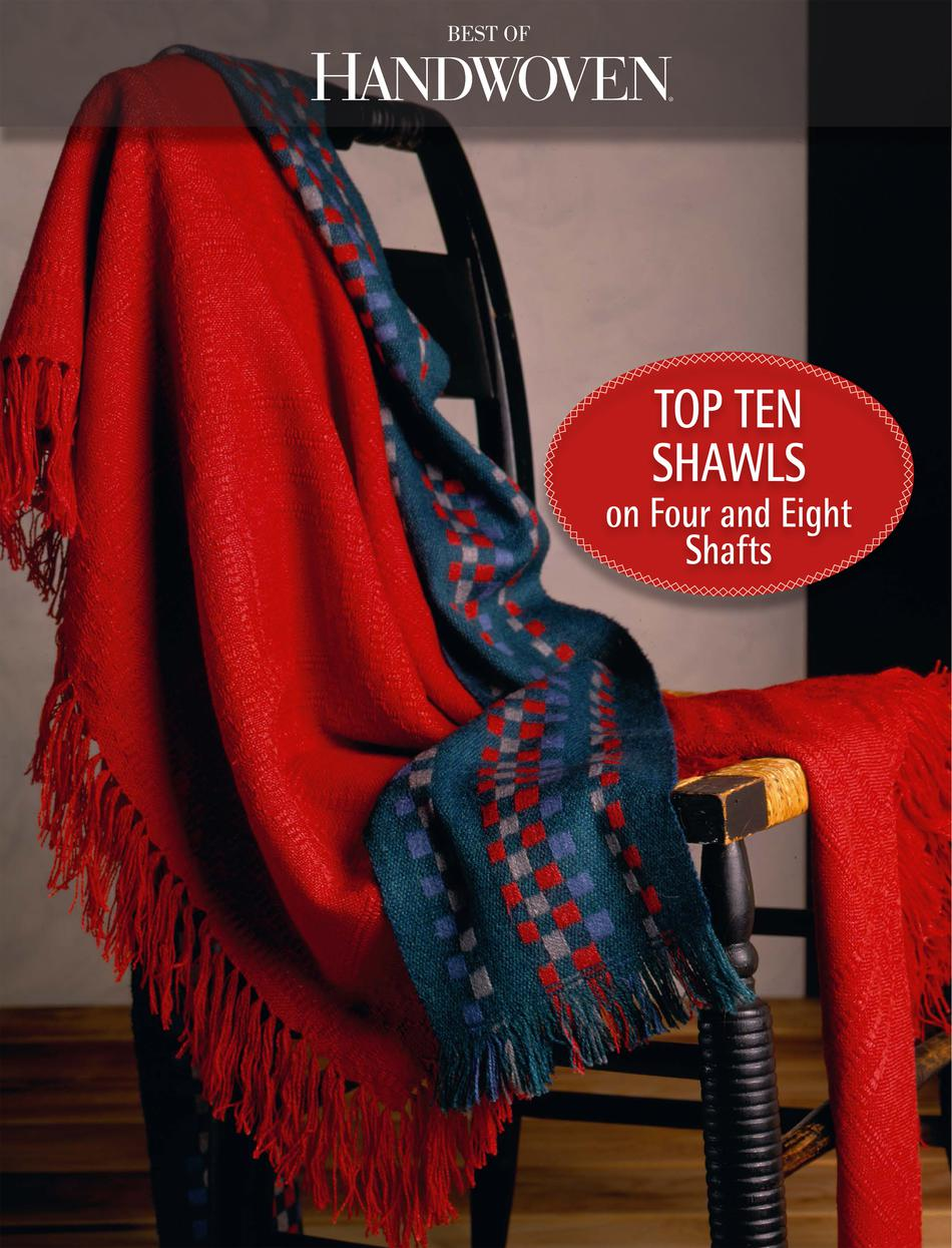 Weaving Books Top Ten Shawls on Four and Eight Shafts  Best of Handwoven Yarn Series  eBook Printed Copy