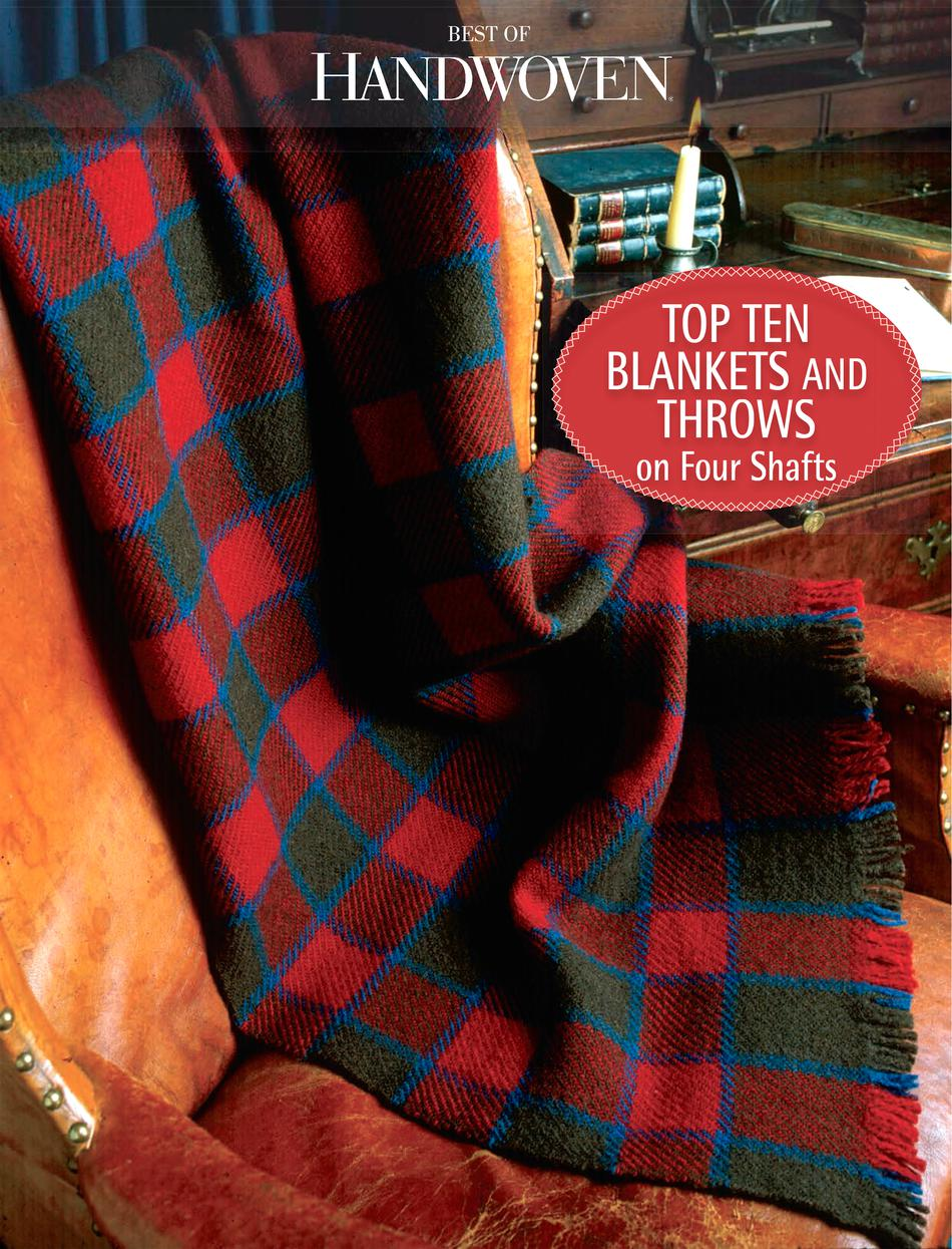 Weaving Books Top Ten Blankets and Throw on Four Shafts  eBook Printed Copy