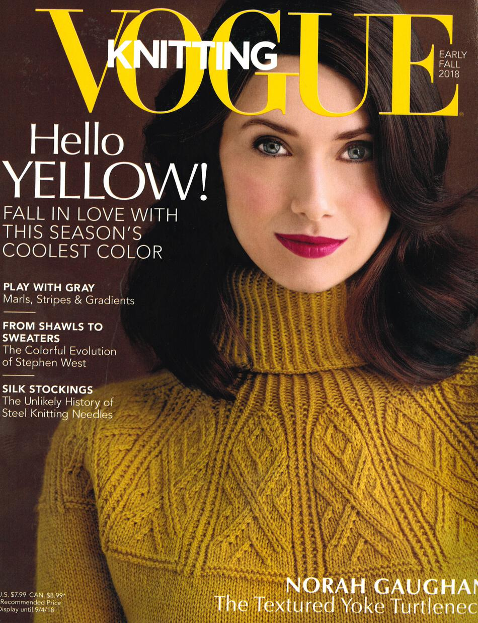 Vogue Knitting Early Fall 2018, Knitting Magazine - Halcyon Yarn