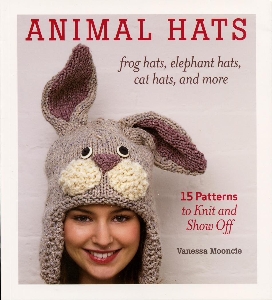 Knitting Pattern Books Hats : Animal Hats - frog hats, elephant hats, cat hats, and more ...