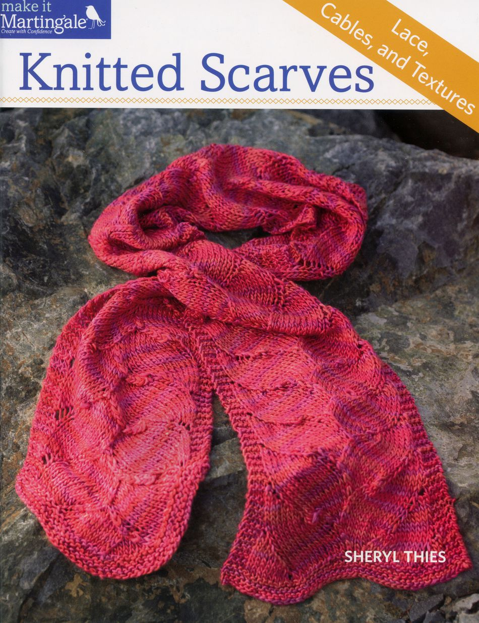 How To Make A Knitted Book Cover ~ Knitted scarves lace cables and textures knitting book