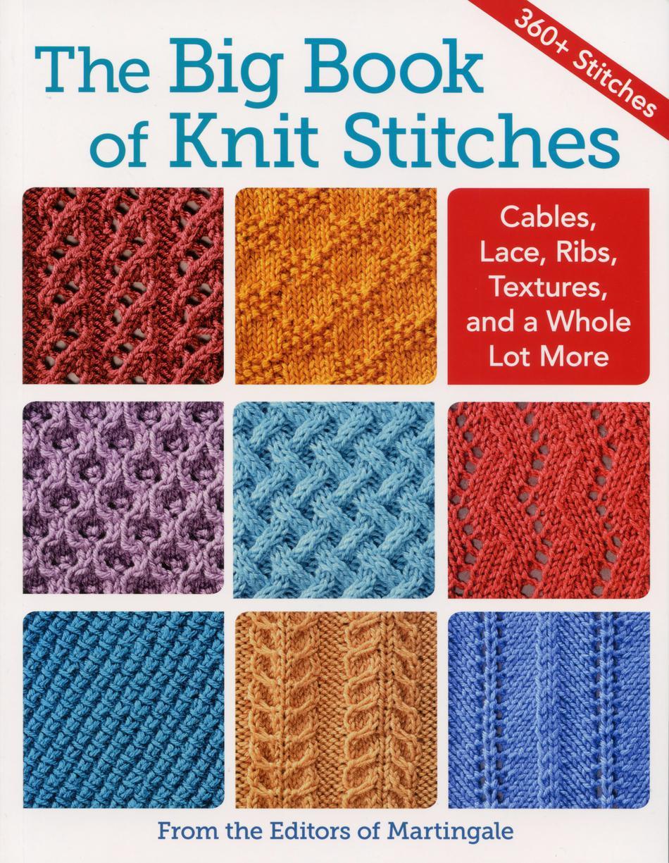 Knitting Stitch Patterns Book : The Big Book of Knit Stitches, Knitting Book - Halcyon Yarn
