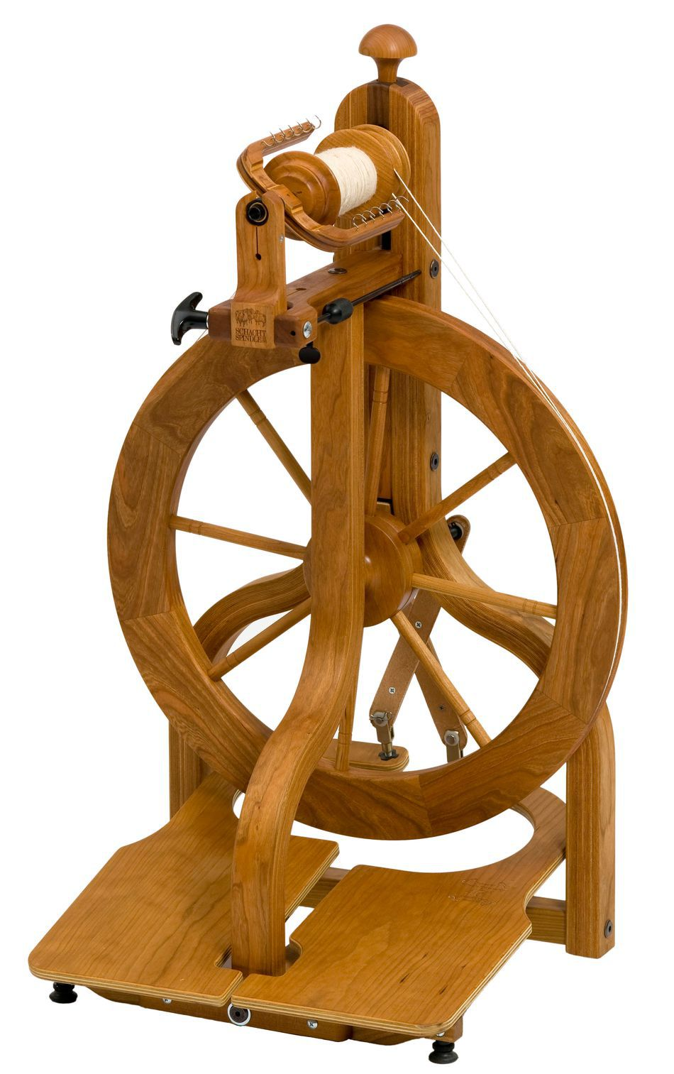 Spinning Equipment Schacht Matchless LTD Cherry Spinning Wheel Double Treadle