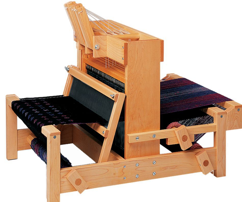 Schacht 25quot Table Loom 4Shaft shown with optional double back beam