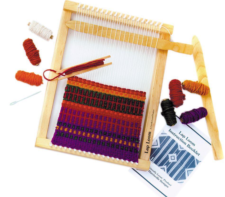 Loom Knitting Kit : Harrisville large lap loom kit quot weaving