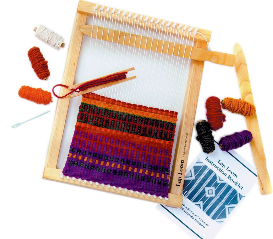 Harrisville Peg Loom With Accessories Weaving Equipment
