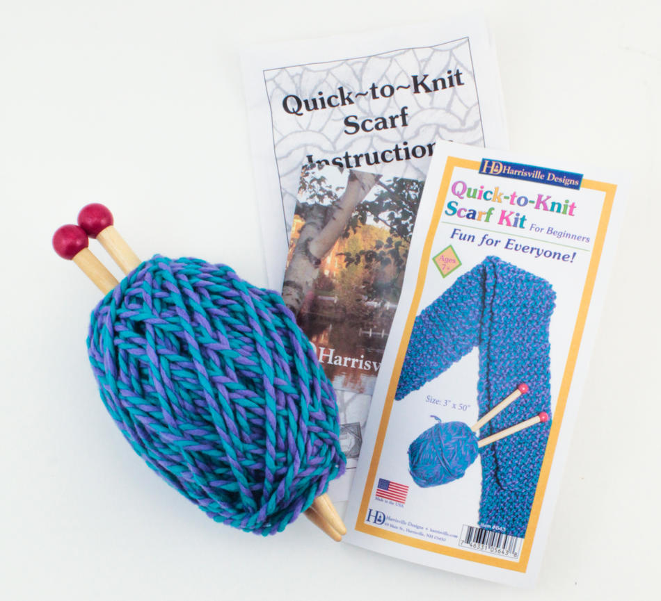 quick to knit blue kit knitting kit halcyon yarn. Black Bedroom Furniture Sets. Home Design Ideas