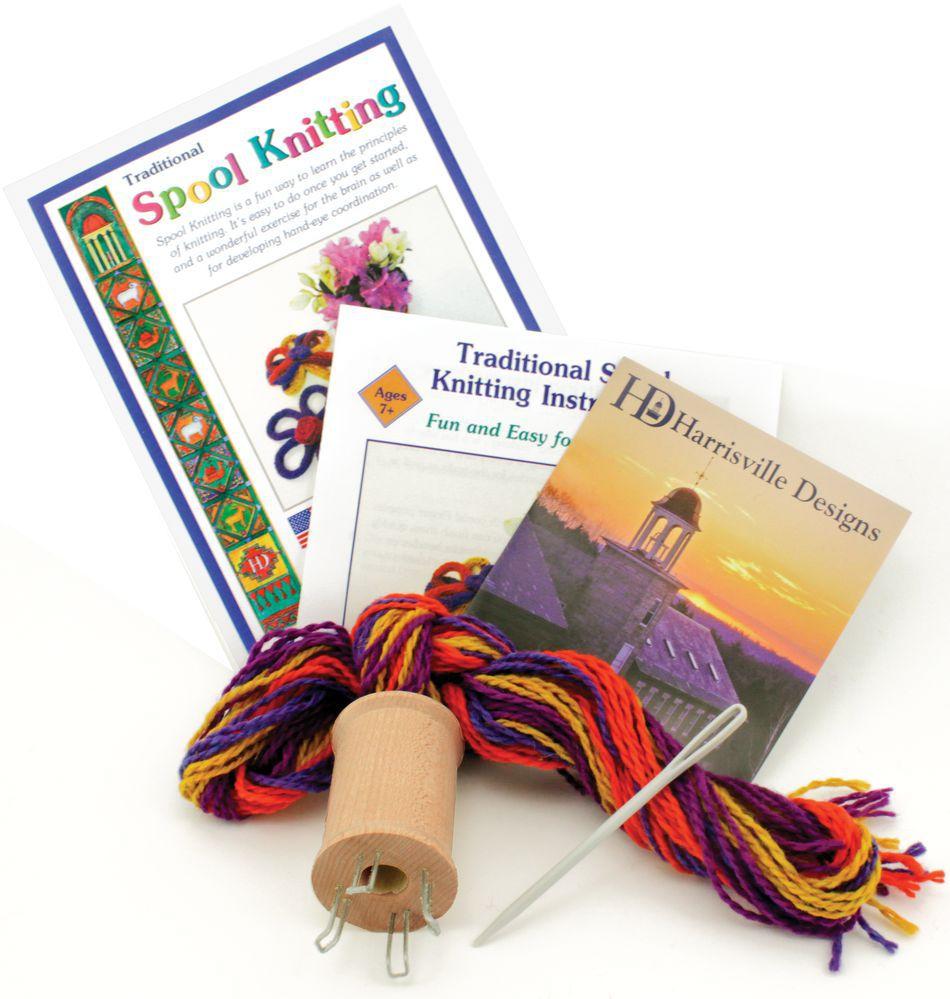 Harrisville Traditional Spool Knitting Kit, Multi-Craft Kit ...