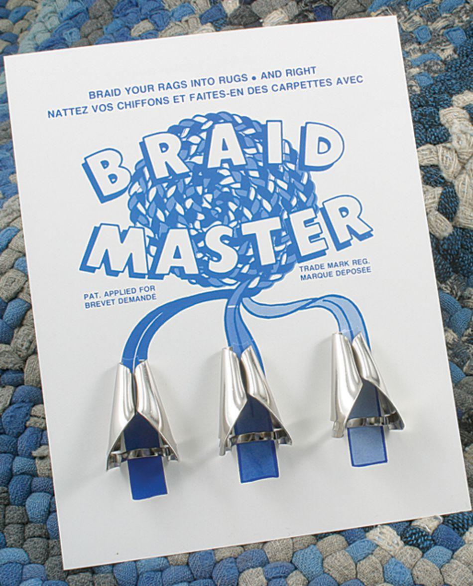 used rug braiding Braid-Aid // Simplicity cones 3-way fabric folders old-style
