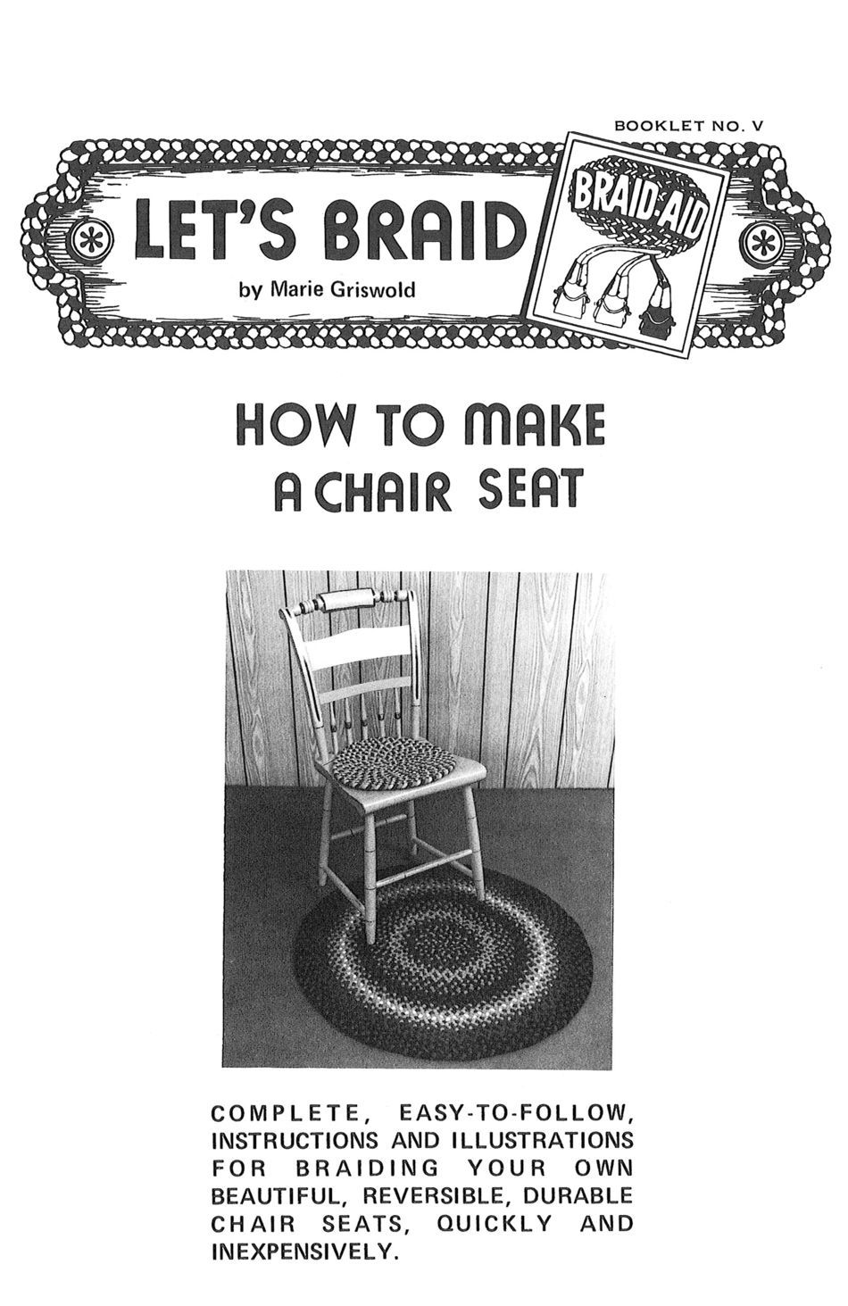 How To Make Braided Chair Seats Rug Making Book Halcyon
