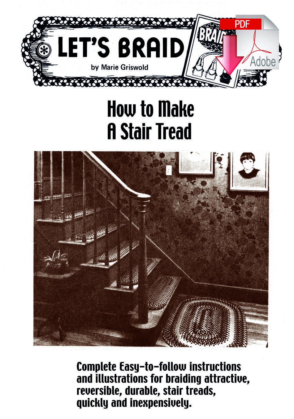 Rug Making Books How to Make Braided Stair Treads  Pattern download