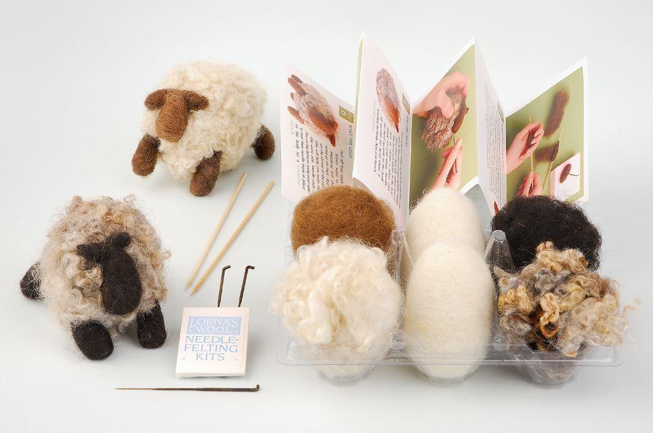 Lorna/'s Wool Needle Felting Kit-Seal