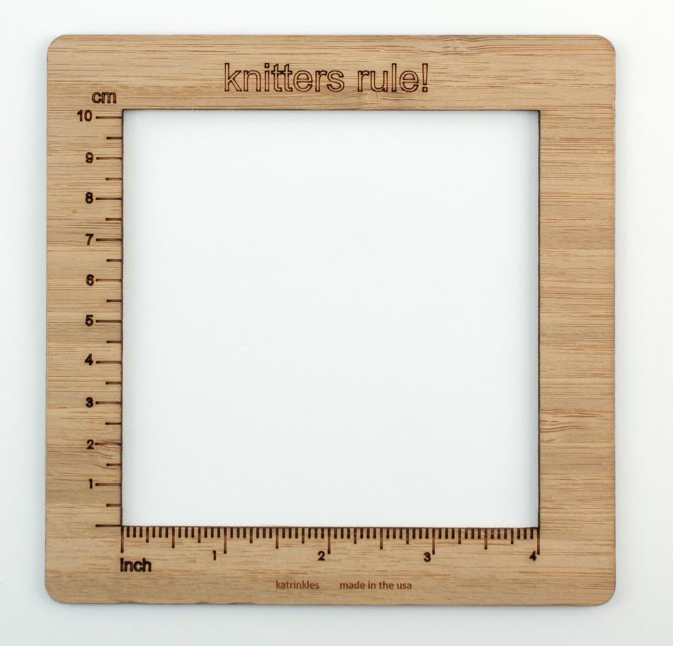 Knitting Gauge Ruler : Knitters rule gauge swatch ruler inch measurement