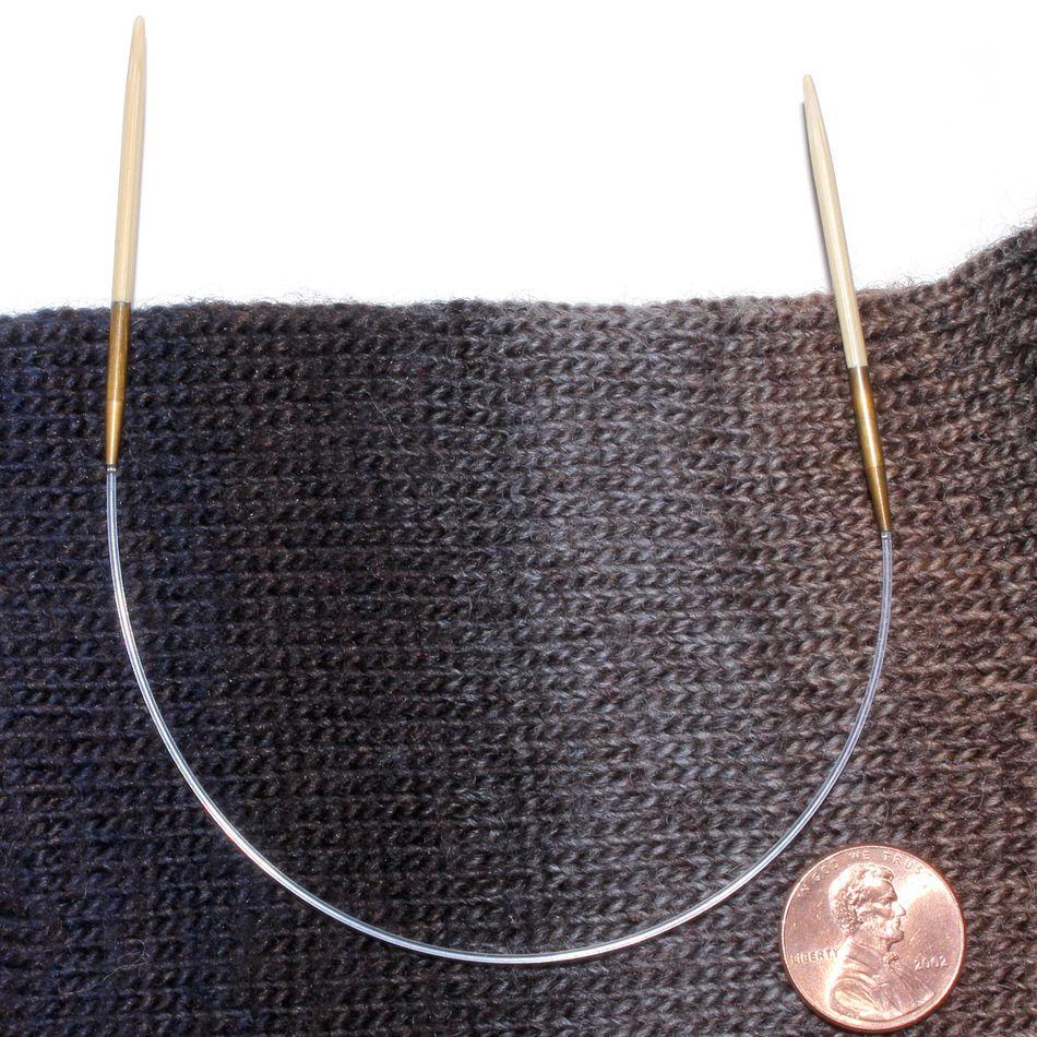Knitting On Circle Needles : Quot circular bamboo knitting needles size