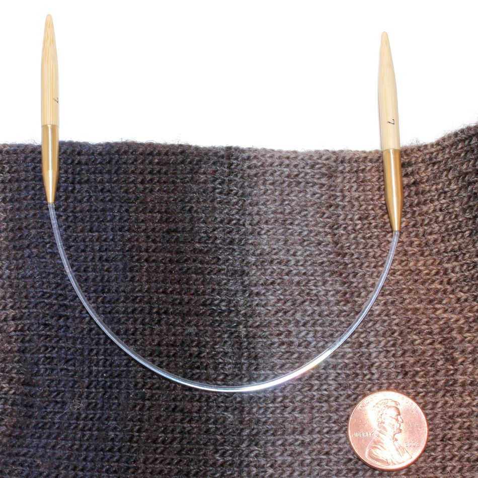 Knitting In The Round Circular Needles : Quot circular bamboo knitting needles size