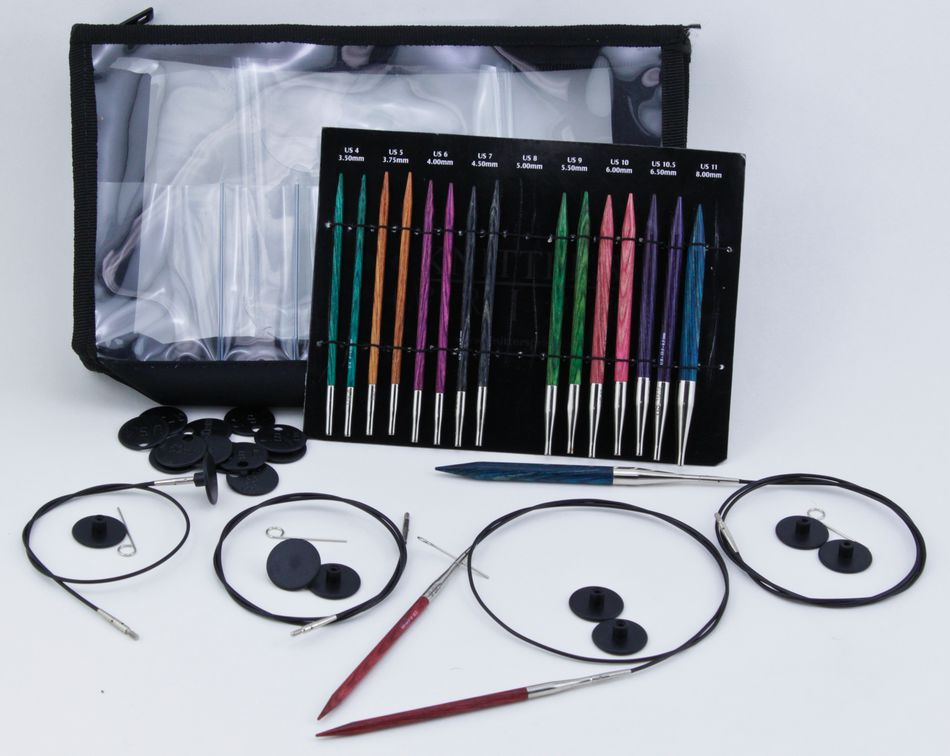 Knitting Set : Dreamz interchangeable deluxe knitting needle set by